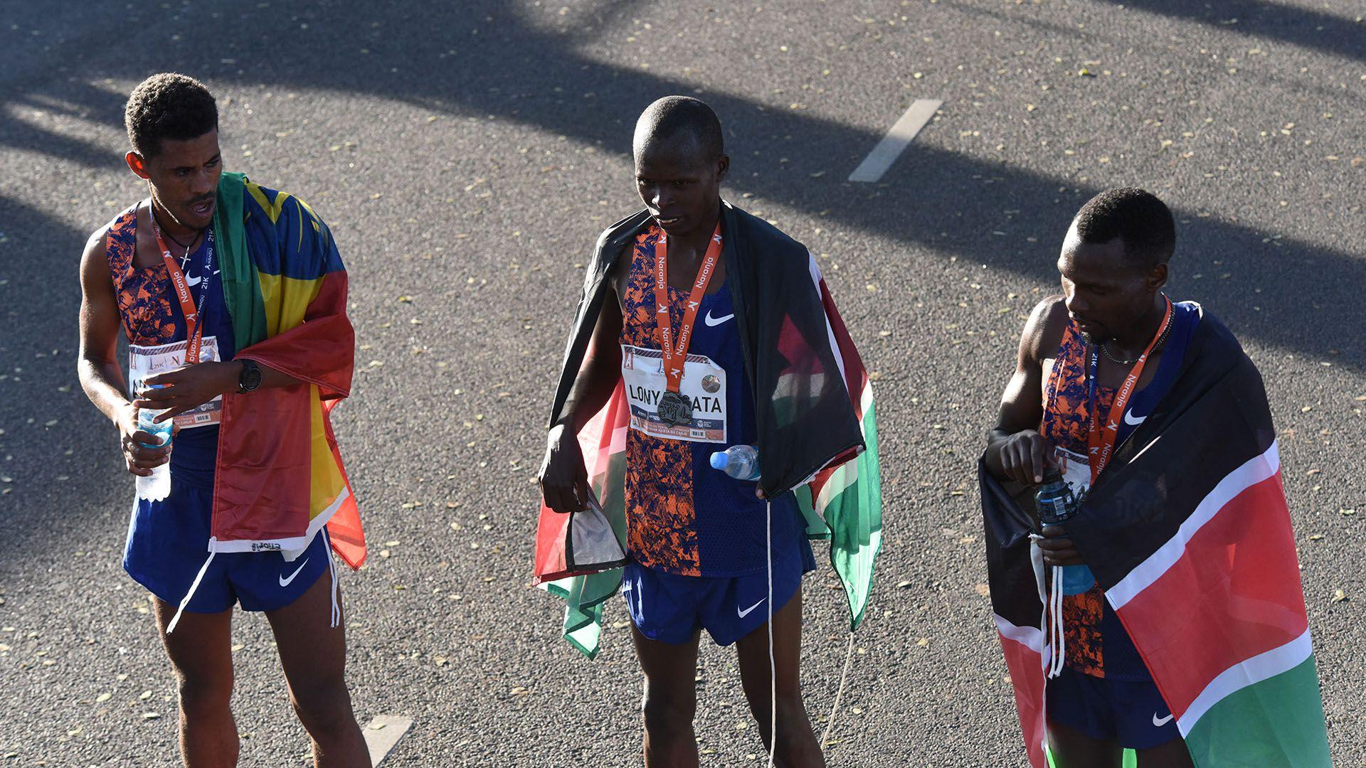 La imagen de los tres integrantes del podio