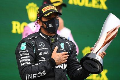 Lewis Hamilton se coronó en un difícil GP de Turquía - REUTERS/