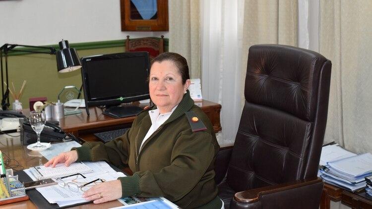 """Filomia quedará en la historia de la sanidad militar como la primera directora en los 140 años del Hospital Militar Central Dr. """"Cosme Argerich"""" (Fernando Morales)"""