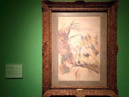 """""""Recodo del camino"""", de Cezzane, una de las obras recuperadas (Twitter Museo Nacional de Bellas Artes)"""