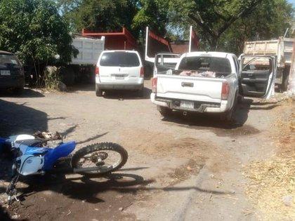 En la localidad de El Zapotito fueron rescatadas dos personas privadas de su libertad (Foto: Twitter/P_Veracruz)