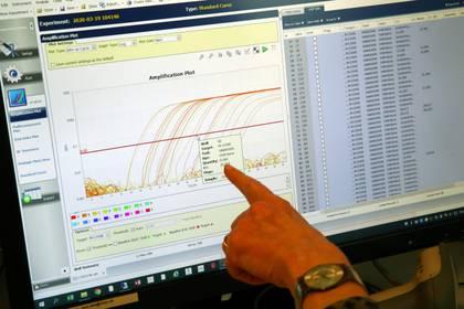 Las autoridades sanitarias buscan aplacar la curva de contagios y que no lleguen los picos - REUTERS/Denis Balibouse
