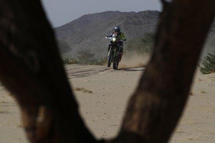 Rui Goncalves en acción durante la cuarta etapa