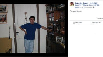 """Una imagen de su infancia en San Isidro que publicó un compañero en una página de Facebook. La directora de los programas globales de VIH, Hepatitis e ITS (infecciones de transmisión sexual) de la Organización Mundial de la Salud publicó que Fernando """"será extrañado por todos"""""""