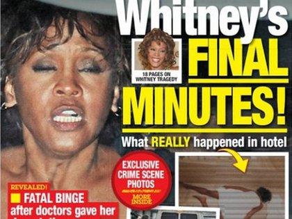 La tapa del National Enquirer con el trágico final de la cantante contó con detalles escandalosos qué había ocurrido en el hotel esa última noche