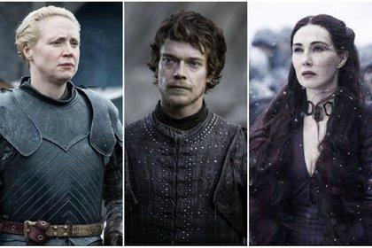 De izquierda a derecha, Gwendoline Christie, Alfie Allen y Carice Van Houten. Los tres se postularon por su cuenta a los premios Emmy (Foto: Game of Thrones)