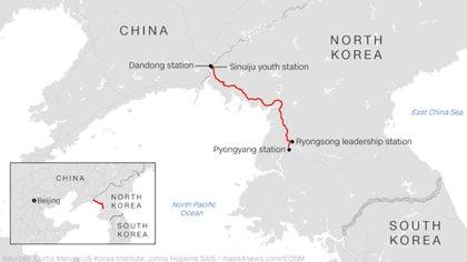 Así fue el viaje en tren de Kim Jong-un