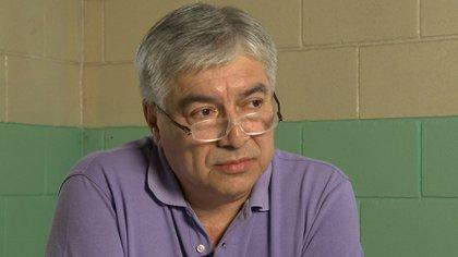 Lázaro Báez en la cárcel de Ezeiza durante la nota con Infobae