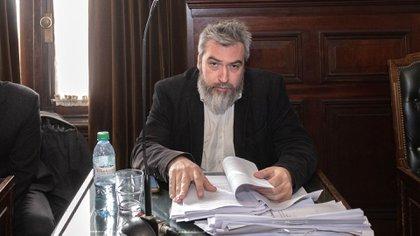 El fiscal Ariel Yapur, que pidió 7 años de prisión y el pago de las costas del juicio a Lucas Carrasco (Adrián Escandar)