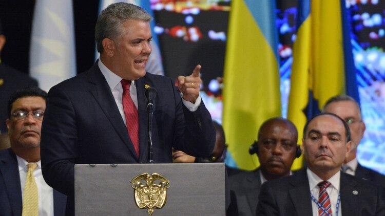 Iván Duque propuso ante la OEA un estatus temporal de protección migratoria para los venezolanos en América Latina