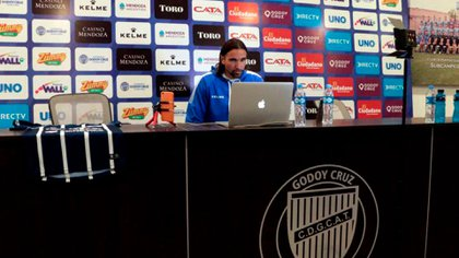 Diego, en Godoy Cruz, su nuevo desafío (Foto: Godoy Cruz)