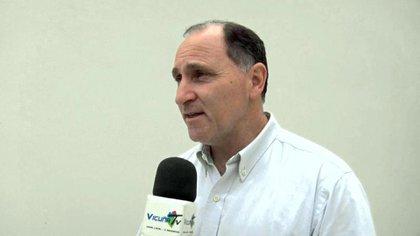 Jorge Vaudagna, la víctima, en una entrevista con un canal local antes de su muerte.