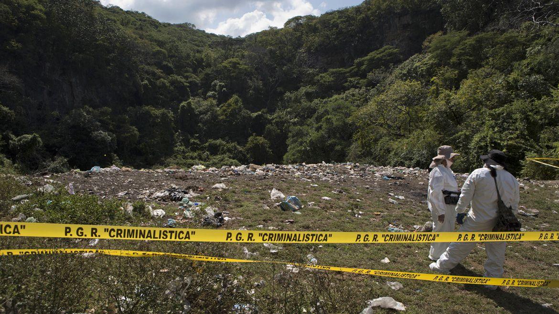 El basurero de Cocula donde presuntamente habían sido incinerados los estudiantes (Foto: AFP)