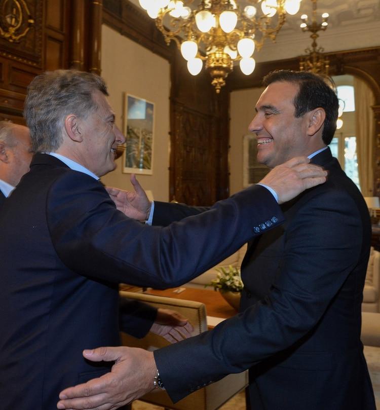 Macri y el gobernador de Corrientes, Gustavo Valdes