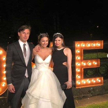 Roberto García Moritán, Pampita y Viviana Benítez, en el casamiento (Foto: Instagram)