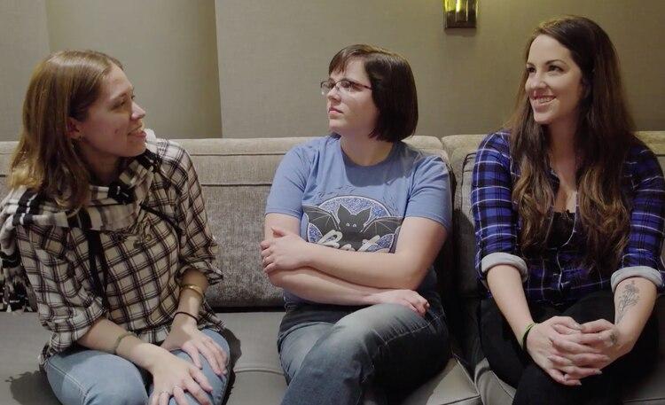 Cheshire, Maitland y Daniels son hermanas de donaciónporWood.(NBC)