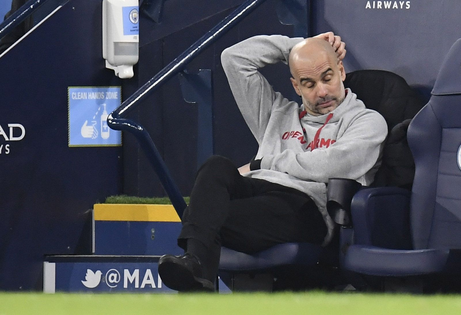 Pep Guardiola perdió con el City un invicto de 28 partidos (REUTERS/Peter Powell).