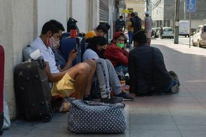 Cientos de migrantes quedaron varados en Chile (REUTERS/Cristian Vivero)