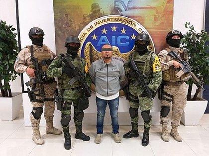 """El """"Marro"""", presunto líder del Cártel Santa Rosa de Lima, enfocado en el huachicoleo, fue detenido el pasado 2 de agosto en Guanajuato (Foto: EFE)"""