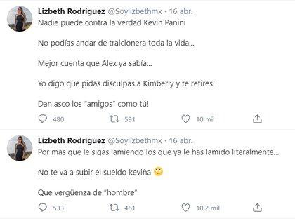 Los primeros mensajes de Lizbeth en relación con el escándalo