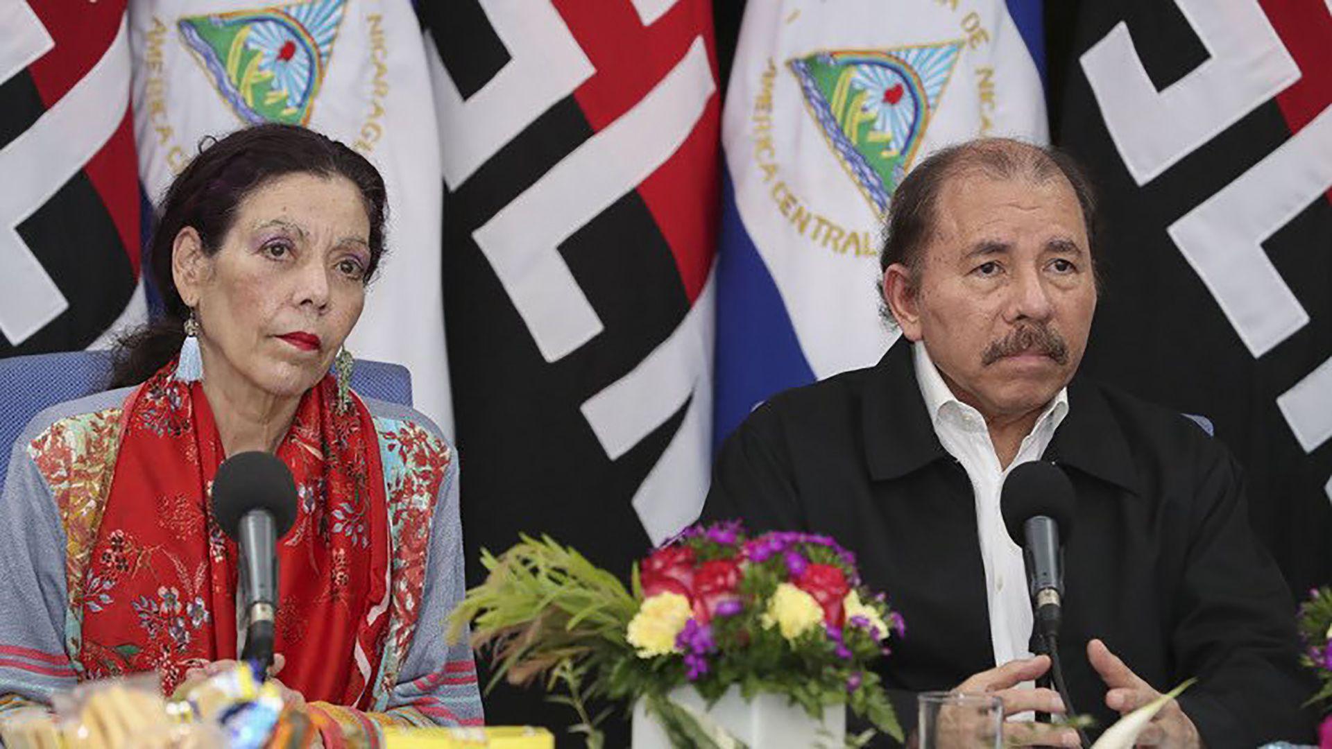 Rosario Murillo y Daniel Ortega (Crédito: Jairo Cajina)