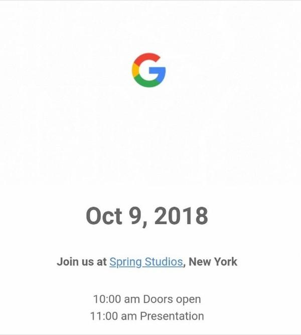 Así es la invitación de Google para conocer los nuevos teléfonos Pixel.