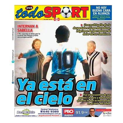 La portada de Todo Sport