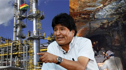 Las exportaciones de gas y de minerales fueron dos de las claves del crecimiento económico durante los gobiernos de Evo Morales