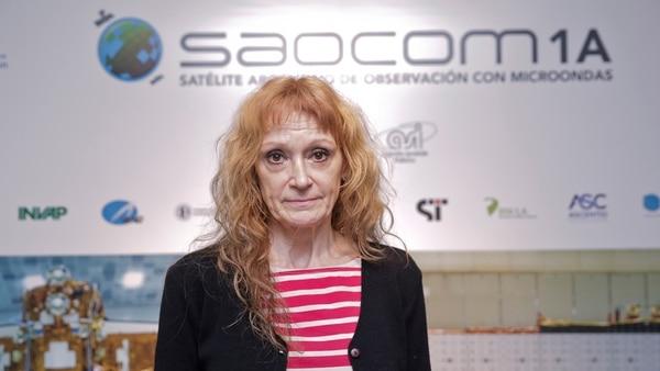 Laura Frulla, especialista de la misión Saocom en Conae