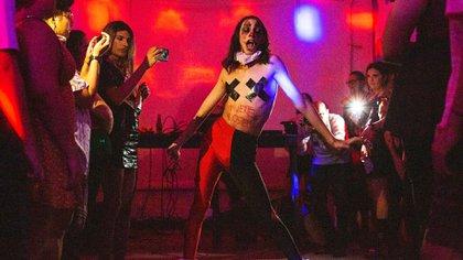 Luciferina Rola se presentó en el espectáculo en El Local (Érika P. Rodríguez para The New York Times)