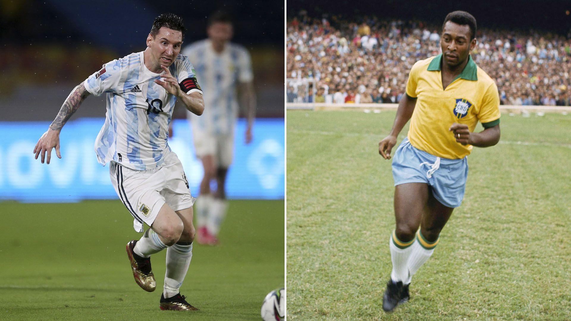 Lionel Messi (Selección argentina) Pelé (selección de Brasil)