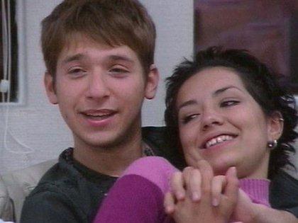 Gastón Trezeguet junto con Eleonora González en la primera edición del reality