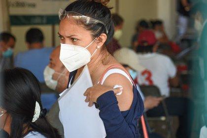 Profesores de Campeche ya fueron vacunados. (Foto: Cuartoscuro)