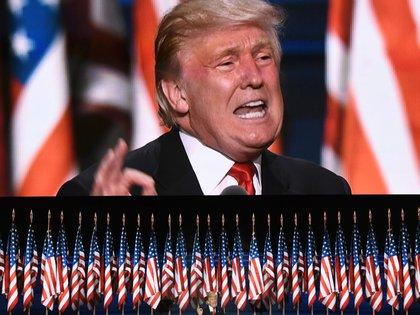Donald Trump en el discurso de cierre de la Convención Republicana (AFP)