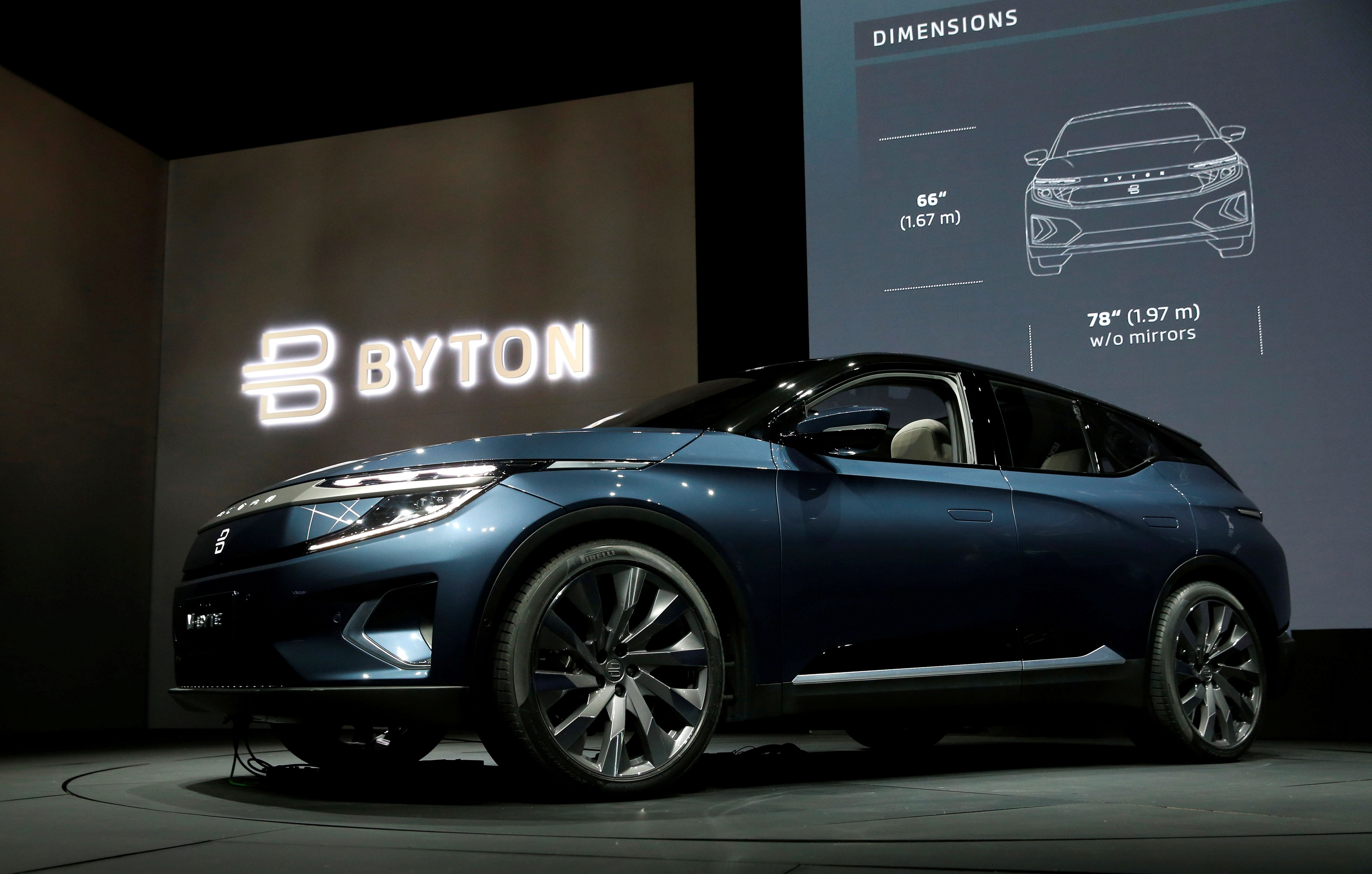 El SUV totalmente eléctrico Byton M-Byte en CES 2020 en Las Vegas, Nevada (REUTERS / Steve Marcus / File Photo REUTERS/Steve Marcus/File Photo)