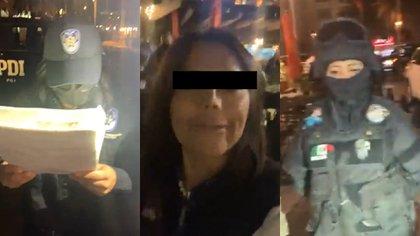 """""""Es una persecución política"""": así fue la detención de Diana """"N"""", candidata a diputación en CDMX (Foto: Captura de pantalla / Facebook @DianaSanchezBar)"""