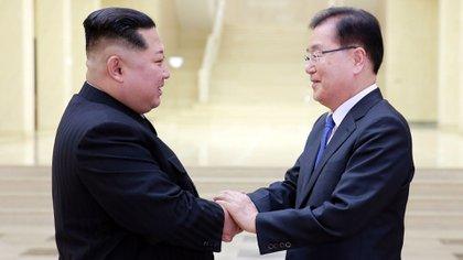 Kim había sido anfitrión de una delegación surcoreana semanas atrás (Reuters)