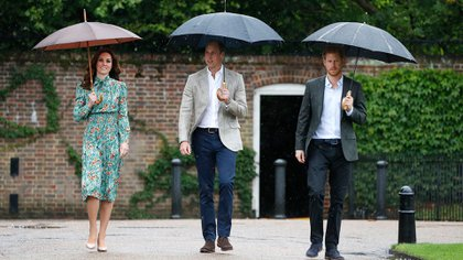 Kate, William y Harry