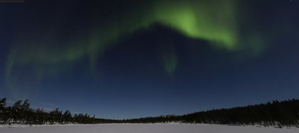 Así se ve la aurora boreal en Finlandia