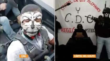 The Mencho and Vaquero forces have clashed in the state and both groups accuse the authorities (Photo: Special)