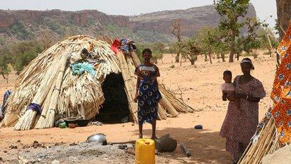 Un asentamiento fulani en el centro de Mali (Ferdinand Reus)