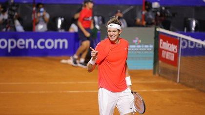 Nicolás Jarry debutó con una victoria y celebró por primera vez a nivel ATP desde julio del 2019 (Foto: Prensa Córdoba Open)