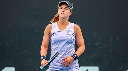Nadia Podoroska no pudo contra Donna Vekic y también se despidió del torneo (EFE)