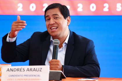 The correista candidate for the Presidency of Ecuador, Andrés Arauz