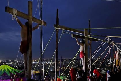 Representación de la Pasión de Cristo en Semana Santa. (FOTO: MIREYA NOVO /CUARTOSCURO.COM)