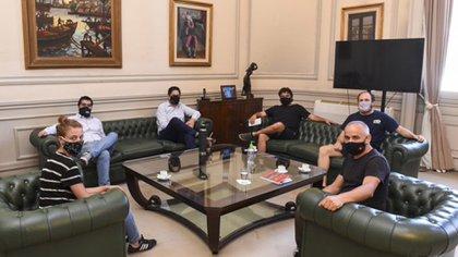 Lunes 25 de enero 16.40 horas. El Ministro de Educación de la República Argentina, Nicolás Trotta se reunió con el dirigente social Juan Grabois.