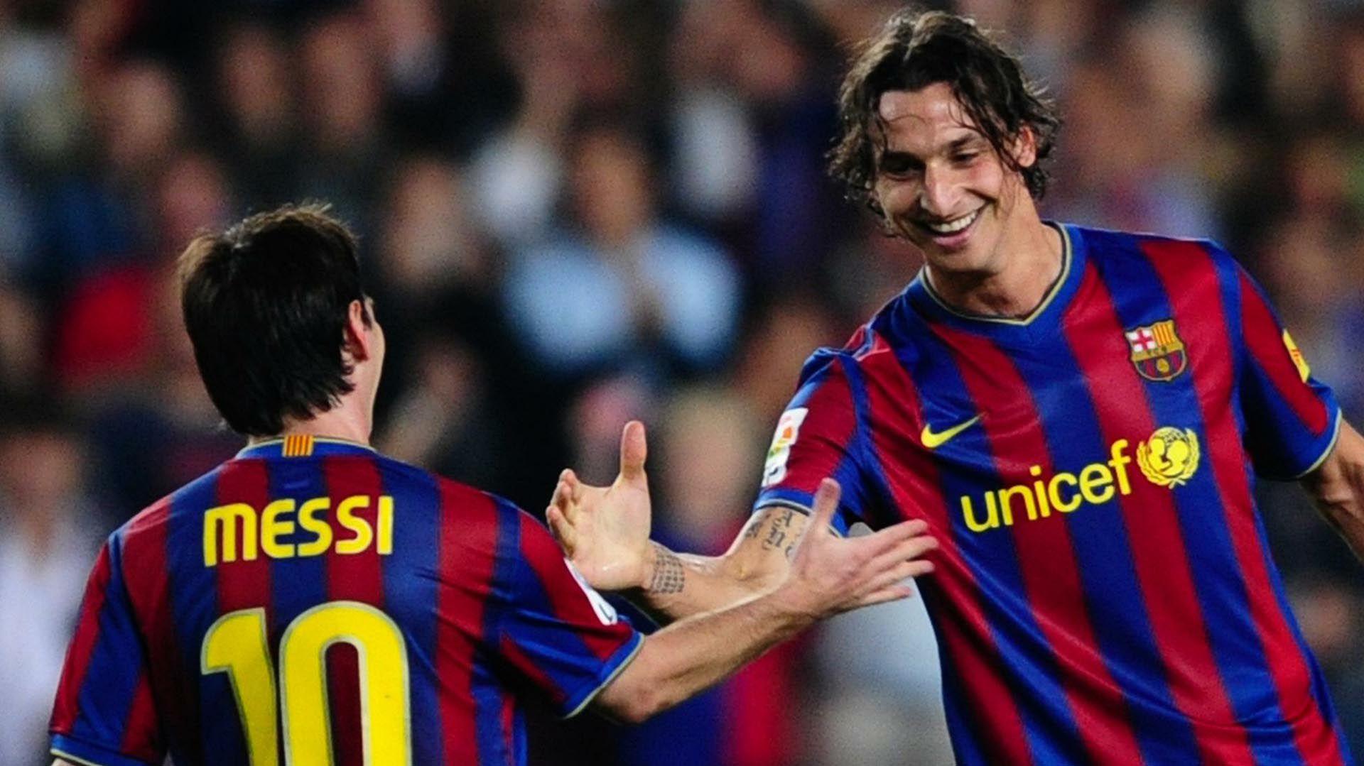 A pesar de no haber tenido un gran paso en Barcelona siempre demostró su admiración por Messi.