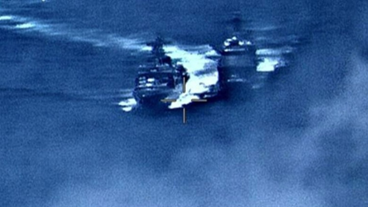 Los buques casi colisionan en el mar de China