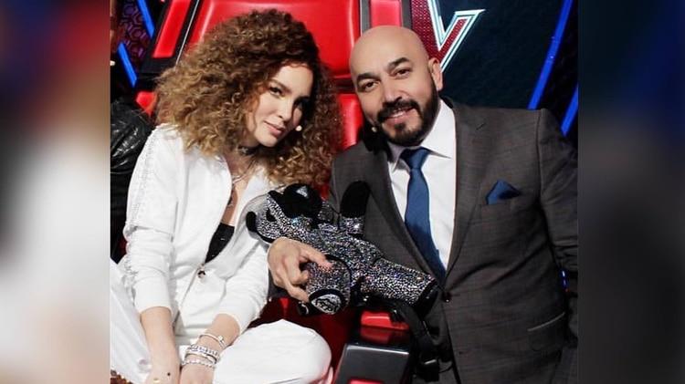 Belinda y Lupillo RIvera trabajaron juntos en La Voz de TV Azteca (Foto: Instagram)