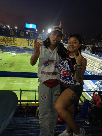 Stiven Tamayo y Valentina Patiño en la Bombonera